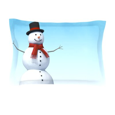 Feelin Frosty by Snap Studio Featherweight Pillow Sham Size: King, Fabric: Cotton