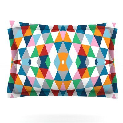 Geometric by Project M Featherweight Pillow Sham Size: King, Fabric: Cotton
