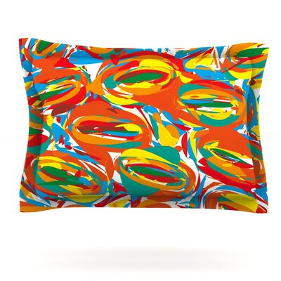 Go Left Crazy by Matthias Hennig Featherweight Pillow Sham Size: Queen, Fabric: Cotton