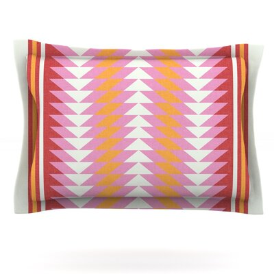 Bomb Pop by Skye Zambrana Featherweight Pillow Sham Size: King, Fabric: Cotton
