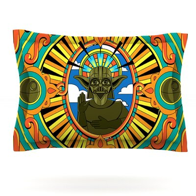 Darth Yoda by Roberlan Featherweight Pillow Sham Size: Queen, Fabric: Cotton