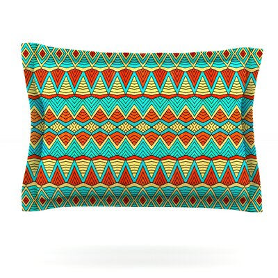 Tribal Soul by Pom Graphic Design Featherweight Pillow Sham Size: Queen, Fabric: Cotton