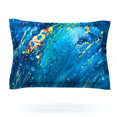 Big Wave by Theresa Giolzetti Featherweight Pillow Sham Size: King, Fabric: Cotton