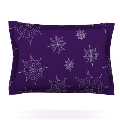 Mini Webs Featherweight Pillow Sham Size: King, Color: Purple