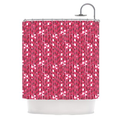Allison Beilke Candy Cane Lane Shower Curtain