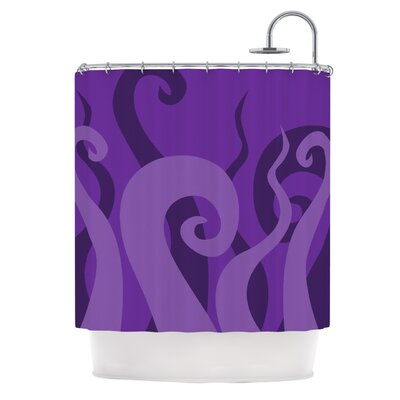 Poor Unfortunate Souls Shower Curtain Color: Purple