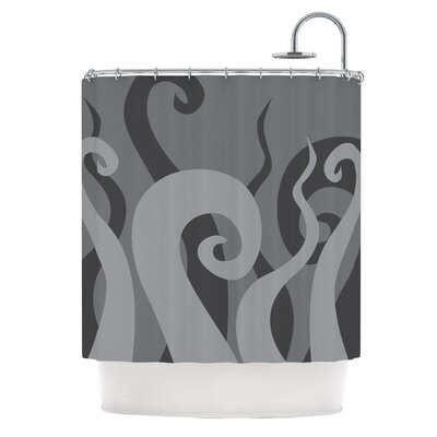 Poor Unfortunate Souls Shower Curtain Color: Gray