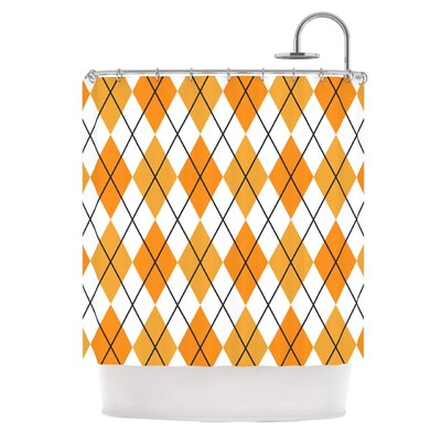 Argyle Shower Curtain Color: Day