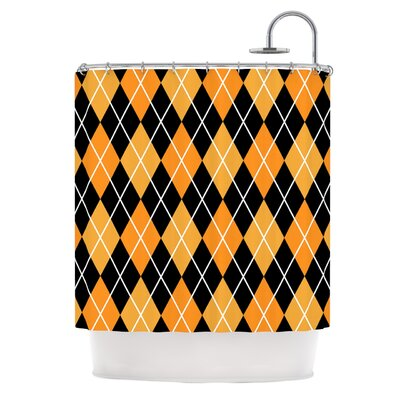 Argyle Shower Curtain Color: Night