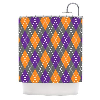 Argyle Shower Curtain Color: Dusk