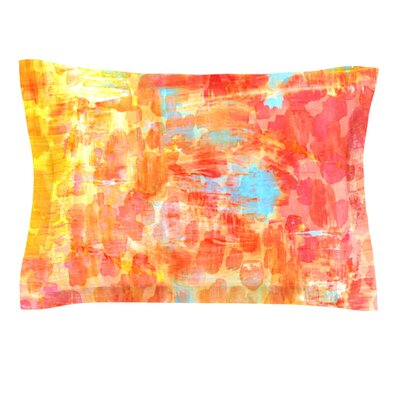 Pastel Jungle by Ebi Emporium Featherweight Pillow Sham Size: Queen, Fabric: Cotton