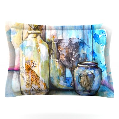 Bottled Animals by Kira Crees Featherweight Pillow Sham Size: Queen, Fabric: Cotton