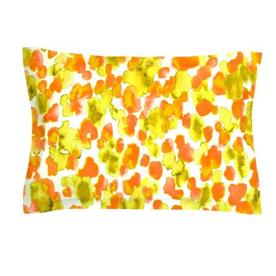 Giraffe Spots by Ebi Emporium Featherweight Pillow Sham Size: Queen, Color: Orange/Yellow