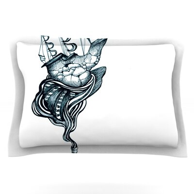 All Aboard by Graham Curran Featherweight Pillow Sham Size: Queen