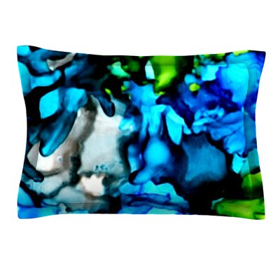 Chesapeake Bay by Claire Day Featherweight Pillow Sham Size: Queen, Fabric: Cotton