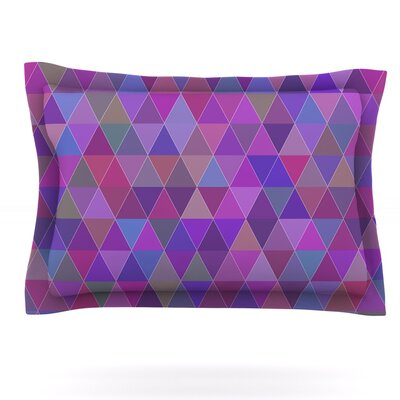 Abstract by Louise Featherweight Pillow Sham Size: King, Fabric: Cotton