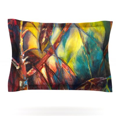 Growth by Kristin Humphrey Featherweight Pillow Sham Size: Queen, Fabric: Cotton