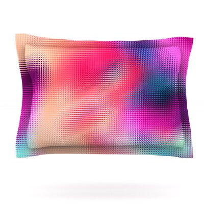 Abstract by Danny Ivan Woven Pillow Sham Size: Queen
