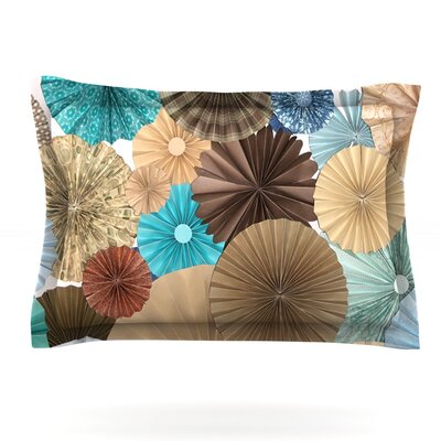 Day At The Beach by Heidi Jennings Featherweight Pillow Sham Size: Queen, Fabric: Cotton