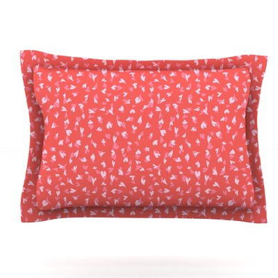 Love Confetti by Emma Frances Featherweight Pillow Sham Size: King, Fabric: Cotton