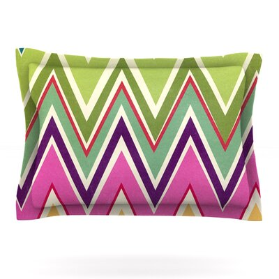 Clash Of Color by Heidi Jennings Featherweight Pillow Sham Size: Queen, Fabric: Cotton