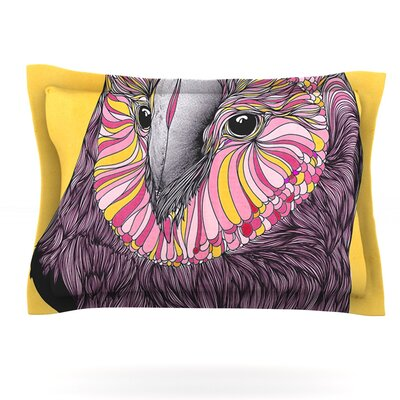 Lovely Owl by Danny Ivan Featherweight Pillow Sham Size: Queen, Fabric: Cotton