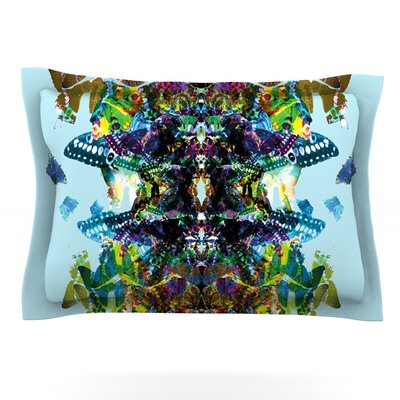 Butterfly by Danii Pollehn Featherweight Pillow Sham Size: Queen, Fabric: Cotton
