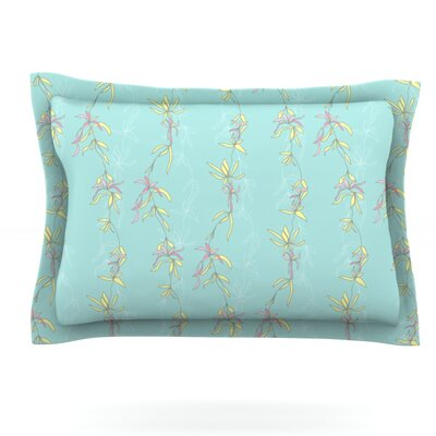 Falling Florals by Emma Frances Featherweight Pillow Sham Size: Queen, Fabric: Cotton