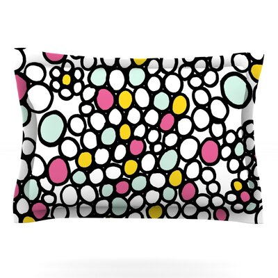 Pebbles by Emine Ortega Featherweight Pillow Sham Size: Queen, Color: Pink, Fabric: Cotton