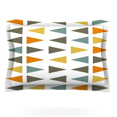 Stacked Geo by Pellerina Design Featherweight Pillow Sham Size: Queen, Fabric: Cotton