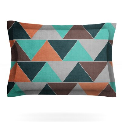 Southwest by Catherine McDonald Featherweight Pillow Sham Size: King, Fabric: Cotton
