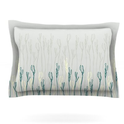 Dainty Shoots by Emma Frances Featherweight Pillow Sham Size: Queen, Fabric: Cotton