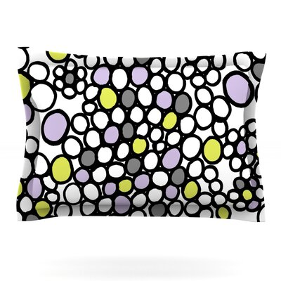 Pebbles by Emine Ortega Featherweight Pillow Sham Size: King, Color: Lilac, Fabric: Cotton