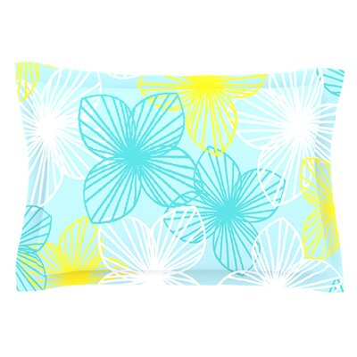 Aqua Sunshine by Emine Ortega Featherweight Pillow Sham Size: King, Fabric: Cotton