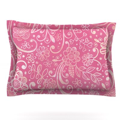 Too Much Pink by Heidi Jennings Featherweight Pillow Sham Size: Queen, Fabric: Cotton