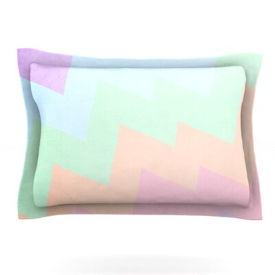 Blaze by Catherine McDonald Featherweight Pillow Sham Size: Queen, Fabric: Cotton