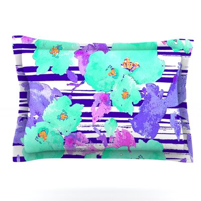 Cherry Blossom by Emine Ortega Featherweight Pillow Sham Size: King, Fabric: Cotton