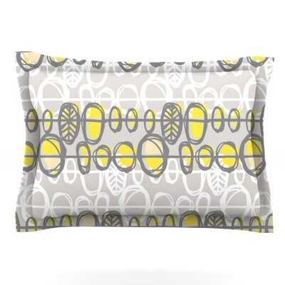 Benin Yellow Gray by Gill Eggleston Featherweight Pillow Sham Size: King