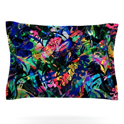 Flora Splash by Gabriela Fuente Featherweight Pillow Sham Size: King, Fabric: Cotton