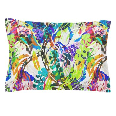 Flow by Gabriela Fuente Featherweight Pillow Sham Size: Queen, Fabric: Cotton