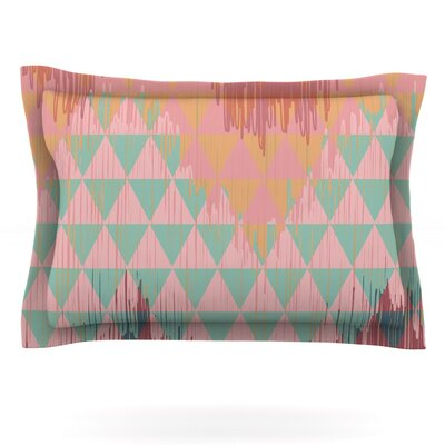 Ikat Geometrie II by Nika Martinez Featherweight Pillow Sham Size: King, Fabric: Cotton