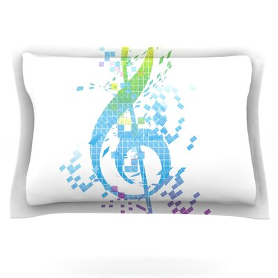 Rainbow Key by Frederic Levy-Hadida Featherweight Pillow Sham Size: King, Fabric: Cotton