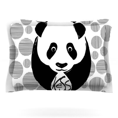 KESS Original Panda Featherweight Sham Size: King, Fabric: Cotton