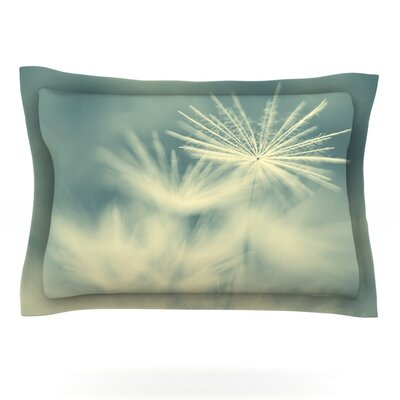 Snowflake by Ingrid Beddoes Featherweight Pillow Sham Size: King, Fabric: Cotton