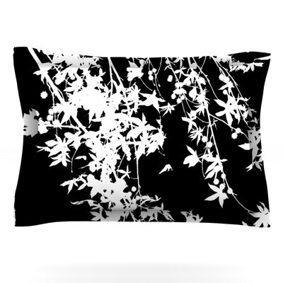 White on Black by Ingrid Beddoes Featherweight Pillow Sham Size: King, Fabric: Cotton