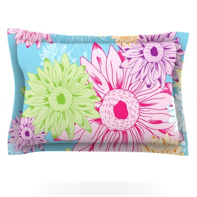 Summer Time by Laura Escalante Featherweight Pillow Sham Size: King, Fabric: Cotton