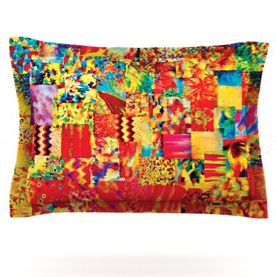 Painting the Soul by Ebi Emporium Featherweight Pillow Sham Size: King, Fabric: Cotton