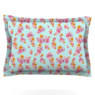 Paper Flower by Laura Escalante Featherweight Pillow Sham Size: Queen, Fabric: Cotton