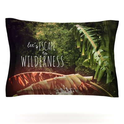 Escape to Wilderness by Deepti Munshaw Featherweight Pillow Sham Size: King, Fabric: Cotton