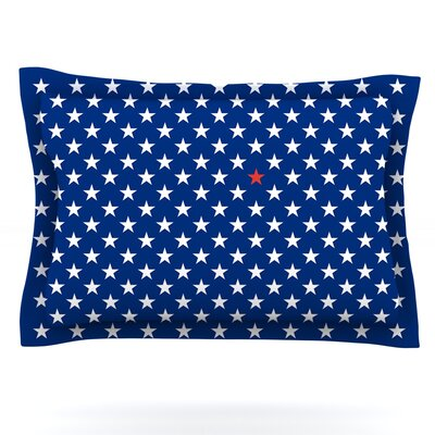 Red Star by Bruce Stanfield Featherweight Pillow Sham Size: King, Fabric: Cotton